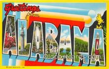 LLS100135 - Non Linen Alabama, USA Postcard Post Cards