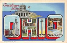 LLS100139 - Linen Ohio, USA Postcard Post Cards