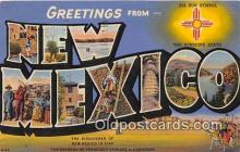 LLS100140 - Linen New Mexico, USA Postcard Post Cards