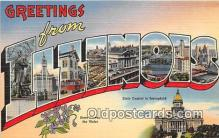 LLS100142 - Linen Illinois, USA Postcard Post Cards