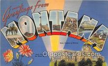 LLS100143 - Linen Montana, USA Postcard Post Cards