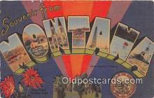 LLS100146 - Linen Montana, USA Postcard Post Cards