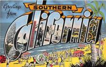 LLS100147 - Linen California, USA Postcard Post Cards