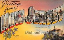 LLS100148 - Linen New Jersey, USA Postcard Post Cards