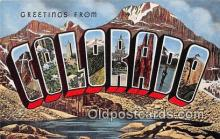 LLS100149 - Linen Colorado, USA Postcard Post Cards