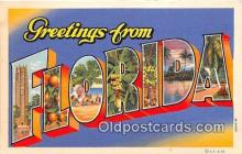 LLS100152 - Linen Florida, USA Postcard Post Cards