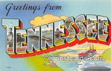 LLS100154 - Linen Tennessee, USA Postcard Post Cards