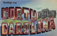 LLS100158 - Linen North Carolina, USA Postcard Post Cards