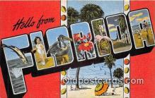 LLS100169 - Linen Florida, USA Postcard Post Cards