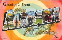 LLS100179 - Linen Alabama, USA Postcard Post Cards