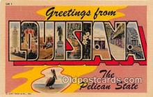 LLS100183 - Linen Louisiana, USA Postcard Post Cards