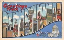 LLS100188 - Linen Pennsylvania, USA Postcard Post Cards
