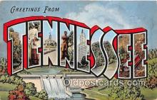 LLS100195 - Linen Tennessee, USA Postcard Post Cards