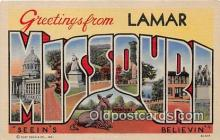 LLS100198 - Linen Missouri, USA Postcard Post Cards