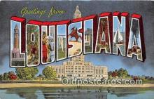 LLS100200 - Linen Louisiana, USA Postcard Post Cards