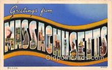 LLS100204 - Linen Massachusetts, USA Postcard Post Cards