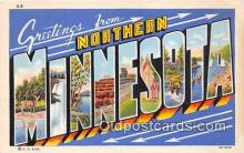 LLS100205 - Linen Minnesota, USA Postcard Post Cards