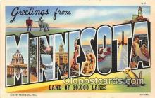 LLS100206 - Linen Minnesota, USA Postcard Post Cards
