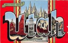 LLS100220 - Linen Utah, USA Postcard Post Cards