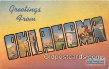 LLS100224 - Linen Oklahoma, USA Postcard Post Cards