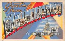 LLS100228 - Linen Washington, USA Postcard Post Cards