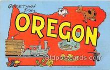 LLS100233 - Linen Oregon, USA Postcard Post Cards