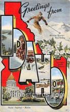 LLS100235 - Linen Idaho, USA Postcard Post Cards