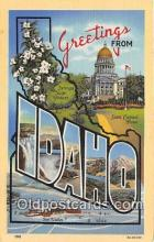 LLS100236 - Linen Idaho, USA Postcard Post Cards