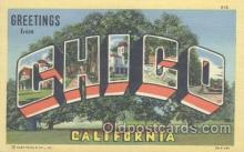 LLT001003 - Chico, California USA Large Letter Town Postcard Postcards