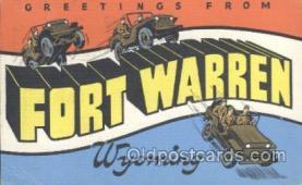 LLT001004 - Fort Warren, Wyoming USA Large Letter Town Postcard Postcards