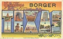 LLT001007 - Borger, Texas, USA Large Letter Town Postcard Postcards
