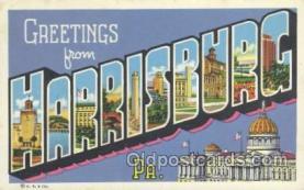 LLT001008 - Harrisburg, PA USA Large Letter Town Postcard Postcards