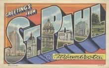 LLT001010 - St. Paul, Minnesota, USA Large Letter Town Postcard Postcards