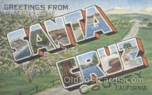 LLT001012 - Santa Cruz California, USA Large Letter Town Postcard Postcards