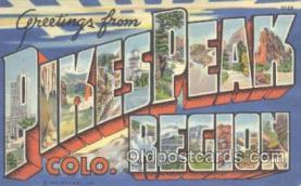 LLT001020 - Pikes Peak CO. USA Large Letter Town Postcard Postcards