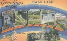 LLT001026 - Swan Lake, Idaho, USA Large Letter Town Postcard Postcards