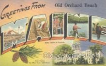 LLT001028 - Old Orchard Beach, Me, USA Large Letter Town Postcard Postcards