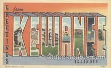 LLT001030 - Kewanee, Illinois, USA Large Letter Town Postcard Postcards