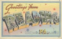 LLT001034 - Reading, PA, USA Large Letter Town Postcard Postcards