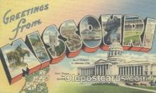 LLT001050 - Missouri, USA Large Letter Town Postcard Postcards