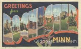 LLT001051 - Rochester, Minn, USA Large Letter Town Postcard Postcards