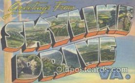 LLT001053 - Skyline Drive, VA. USA Large Letter Town Postcard Postcards