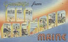 LLT001055 - Old Orchard, Me, USA Large Letter Town Postcard Postcards