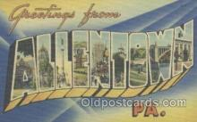 LLT001066 - Allentown, PA USA Large Letter Town Postcard Postcards