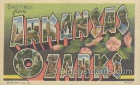 LLT001067 - Arkansas Ozarks Large Letter Town Postcard Postcards