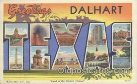 LLT001072 - Dalhart, Texas, USA Large Letter Town Postcard Postcards