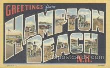 LLT001075 - Hampton Beach, NH, USA Large Letter Town Postcard Postcards
