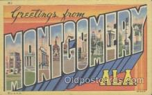 LLT001082 - Montgomery, ALA. USA Large Letter Town Postcard Postcards