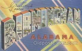 LLT001085 - Birmingham, ALA. USA Large Letter Town Postcard Postcards