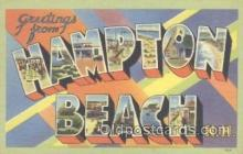 LLT001087 - Hampton Beach, NH, USA Large Letter Town Postcard Postcards